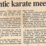 Two locals hope to make mark in Atlantic karate tourney 2