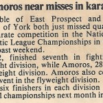 Able, Amoros near misses in karate