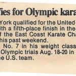 Abel qualifies for Olympic karate trials